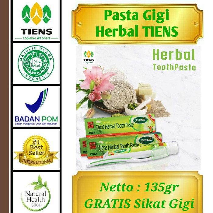 Jual Pasta Gigi Herbal Tiens Pemutih Gigi Pencegah Gigi Berlubang