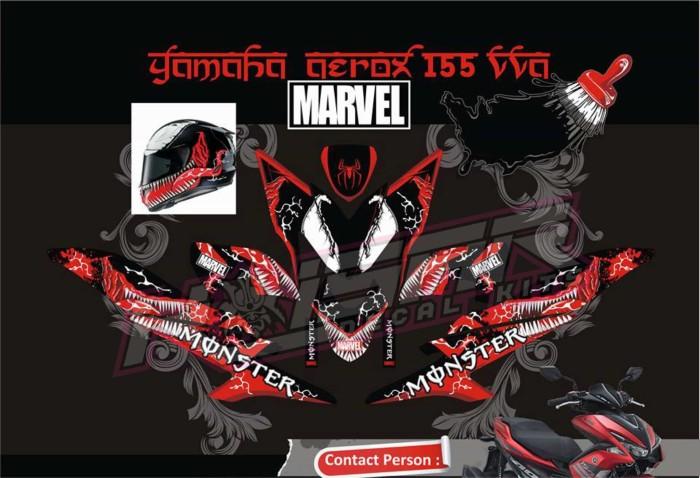 harga Sticker motor aksesoris body motor aerox 155 venom merah Tokopedia.com