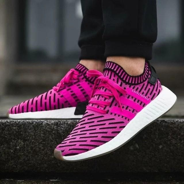 Jual sepatu adidas nmd r2 boost primeknit pk shock pink gum white ... e3ec45191a