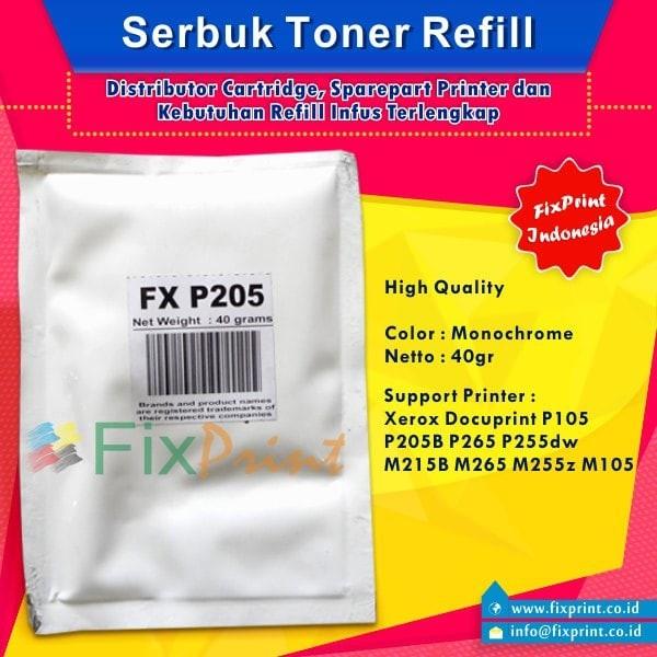 harga Serbuk toner xerox docuprint p105 p215 p205b m215b 105 255 monochrome Tokopedia.com