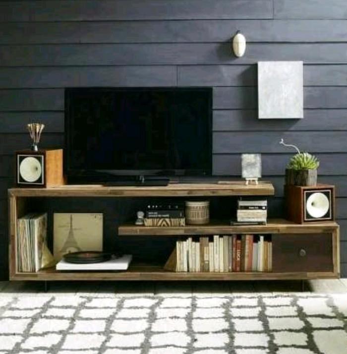 Jual Tv Cabinet Rak Tv Minimalis Kayu Jati Belanda Dita Shop