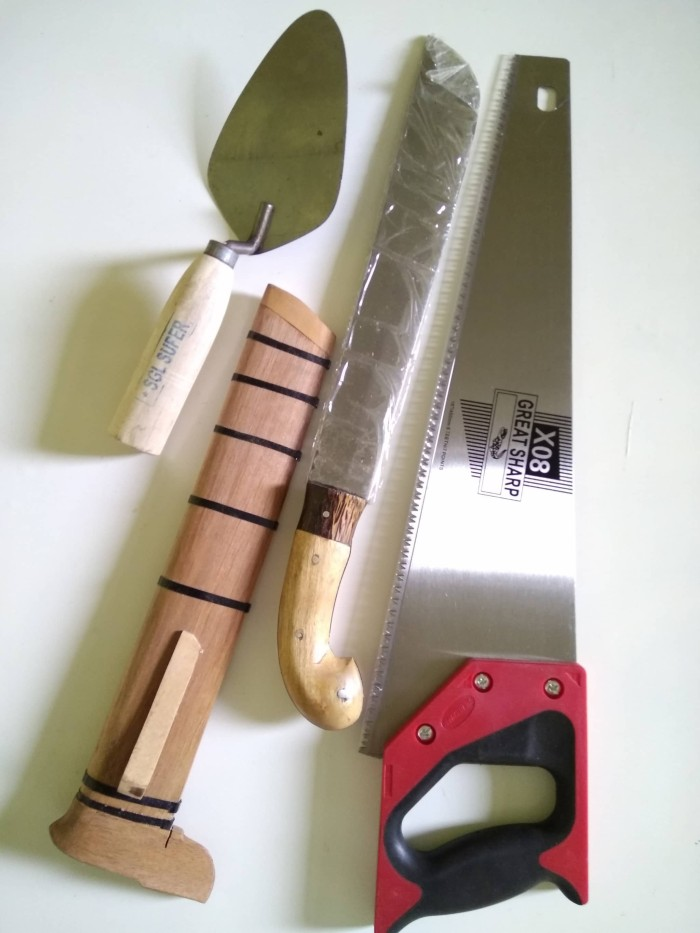 harga Sendok tembok / gergaji kayu dan golok Tokopedia.com