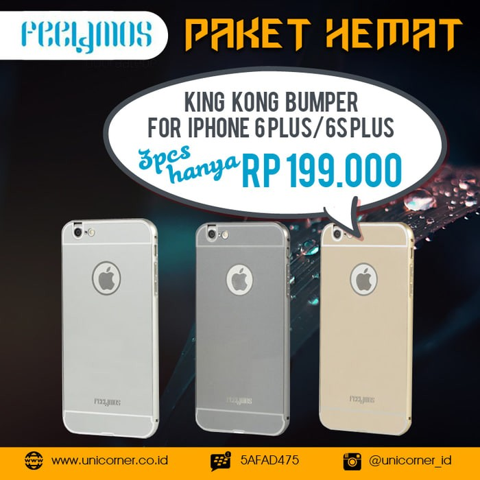 PAHE Feelymos King Kong Bumper 3pcs for iPhone 6 Plus/6S Plus