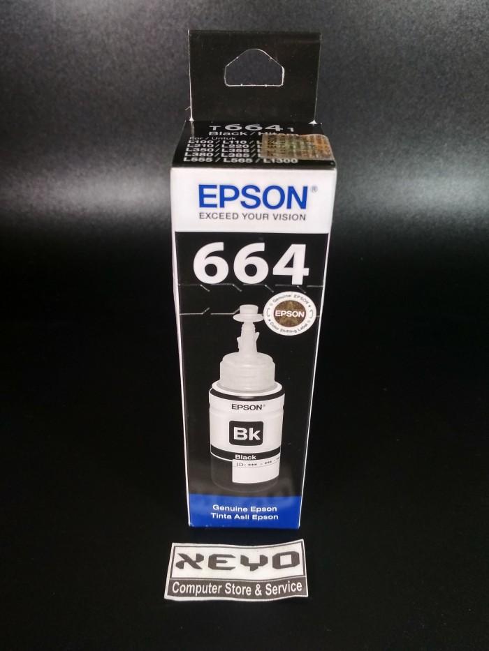 Epson T6641 Tinta Botol Epson L Series - Black Original
