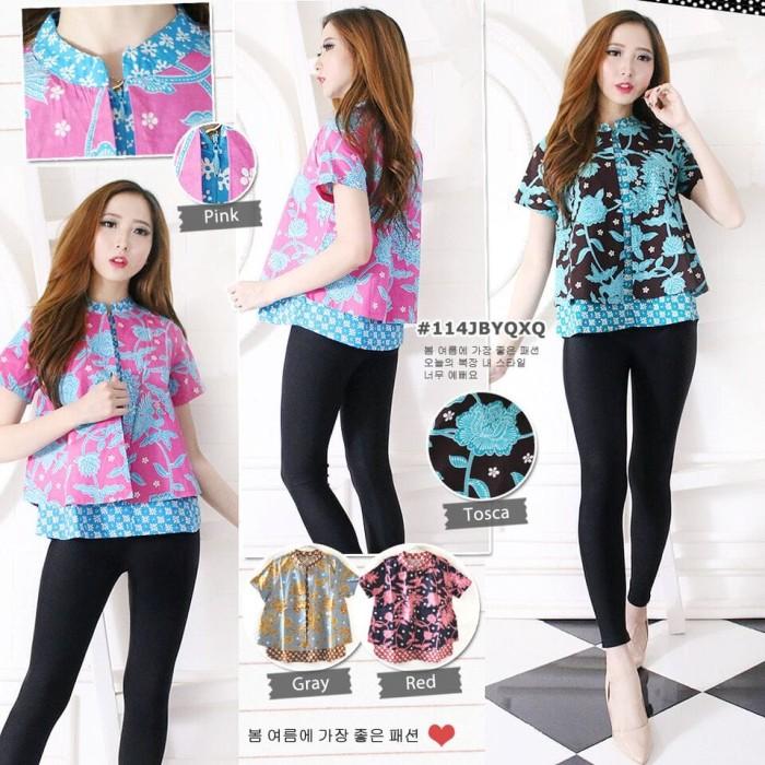 harga Baju atasan wanita - blouse batik modern - atasan batik Tokopedia.com