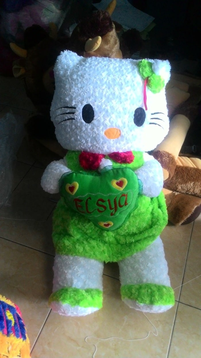 Jual 09 - Boneka Hello Kitty Jumbo bordir nama Boneka Kucing Boneka ... 5c5e410423
