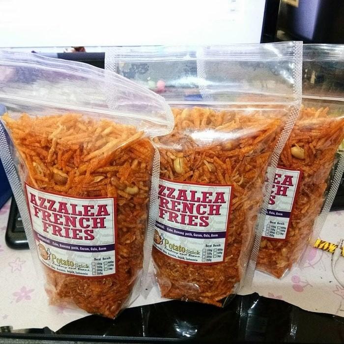 Foto Produk kentang kering kacang pedas/cemilan sehat kentang kering enak 100gr dari elak market