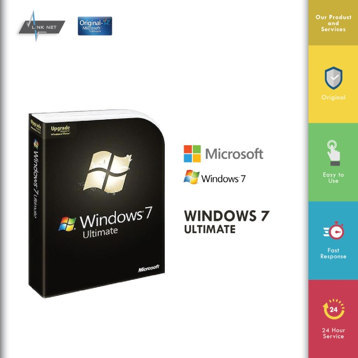 harga Microsoft Windows 7 Ultimate License 100% Original Tokopedia.com