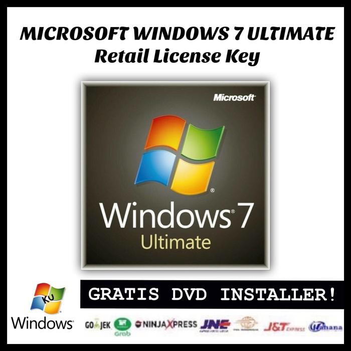 harga Windows 7 Ultimate Original Retail License Key Tokopedia.com