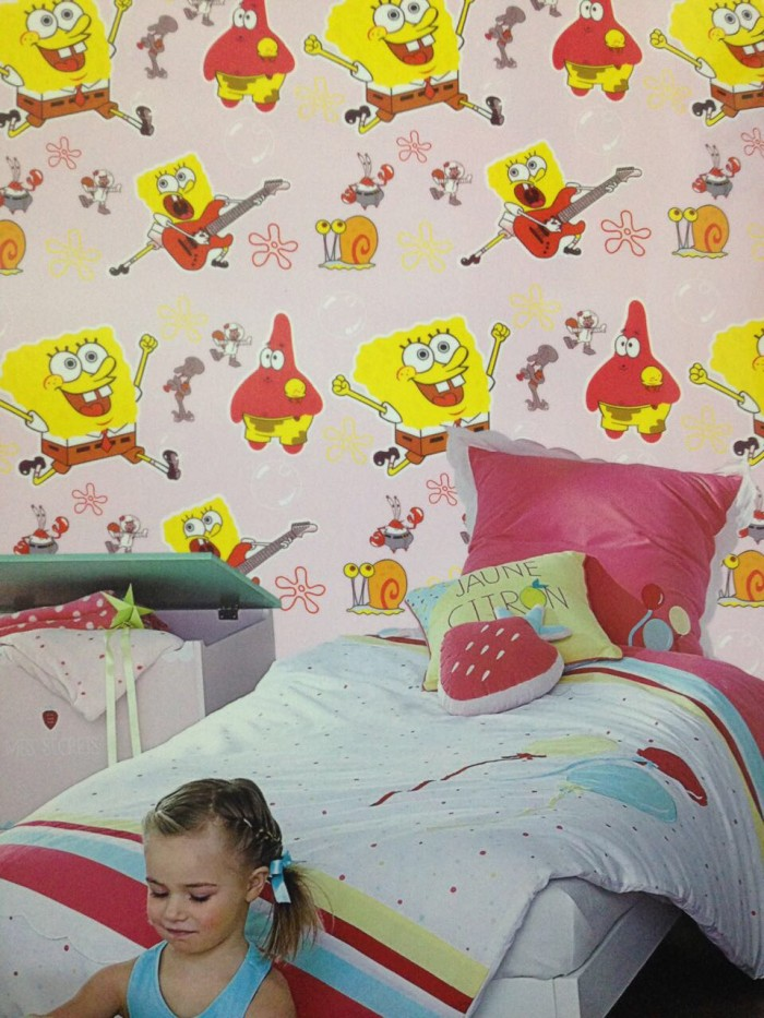 Jual Wallpaper Dinding Anak Kartun Spongebob Patrick Kota Bekasi Cantik Wallpaper Tokopedia