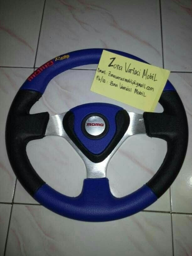 harga Steer/stir racing momo evo/datar 14 inch universal biru hitam Tokopedia.com