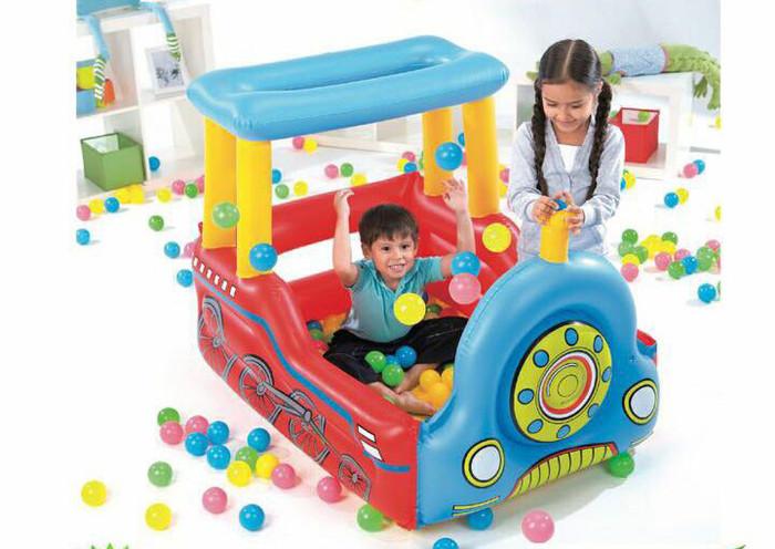 mainan anak tempat mandi bola Bestway train play centre