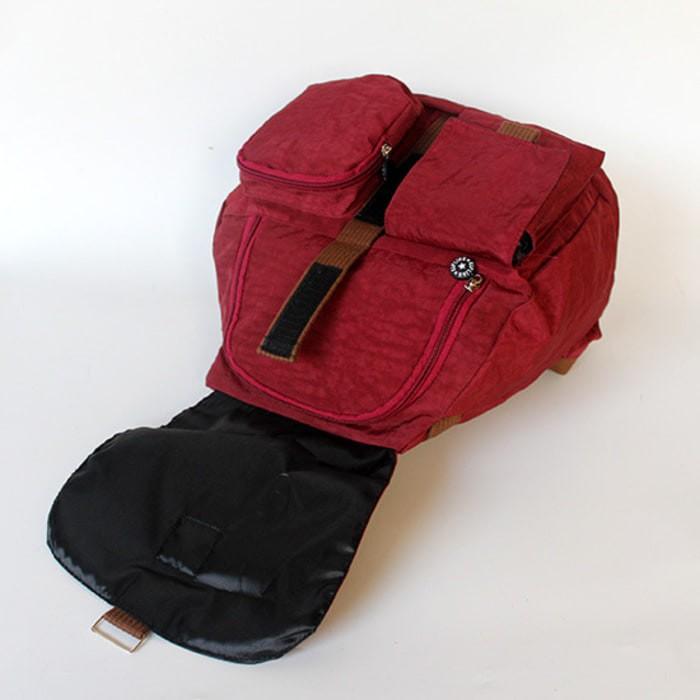 Backpack KIPLING Tas Ransel Wanita Warna Merah Marun Terbaru GET1875 58064a7e19