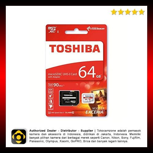 harga Toshiba exceria micro sdhc 90mb/s 64gb with adapter Tokopedia.com