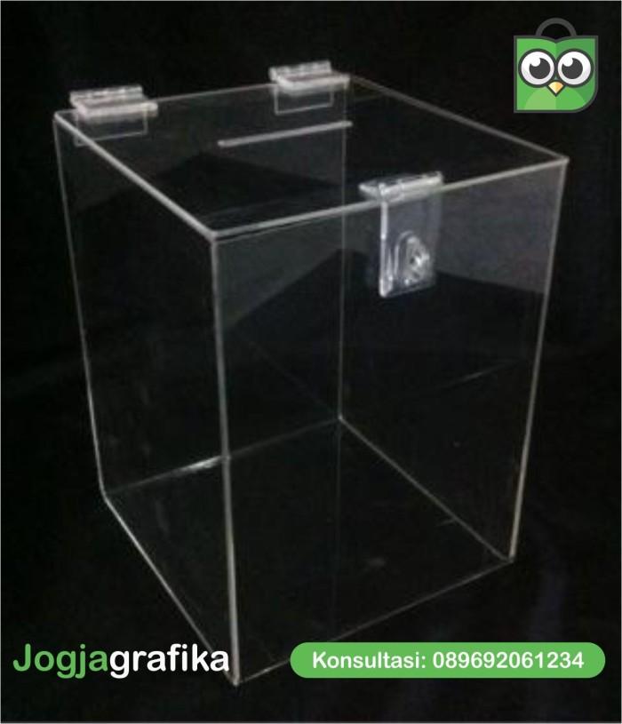 Jual Kotak Amal Kotak Infaq Akrilik Murah Medium Kota Yogyakarta Jogja Grafika Tokopedia