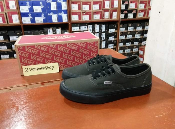 ... harga Sepatu vans authentic dark grey original premium import waffle  ifc Tokopedia.com 67e8412d97