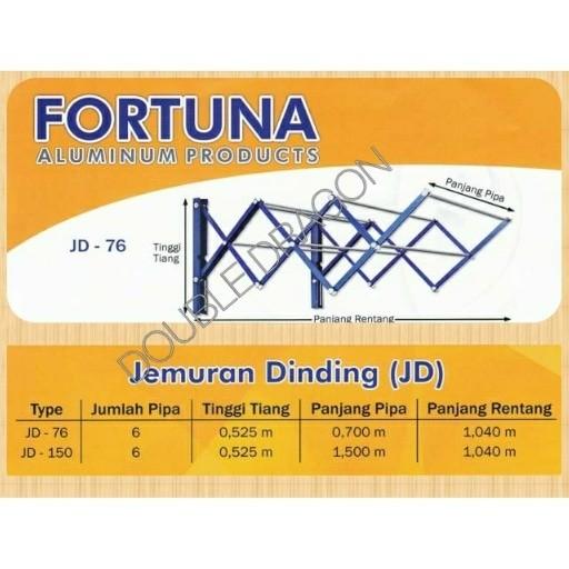 harga Jemuran dinding fortuna jd 076 aluminium (76 cm) Tokopedia.com