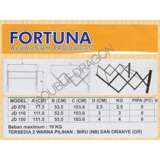 harga Jemuran dinding fortuna jd 110 aluminium (1,1 meter) Tokopedia.com