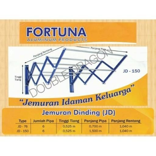 harga Jemuran dinding fortuna jd 150 aluminium (1,5 meter) Tokopedia.com