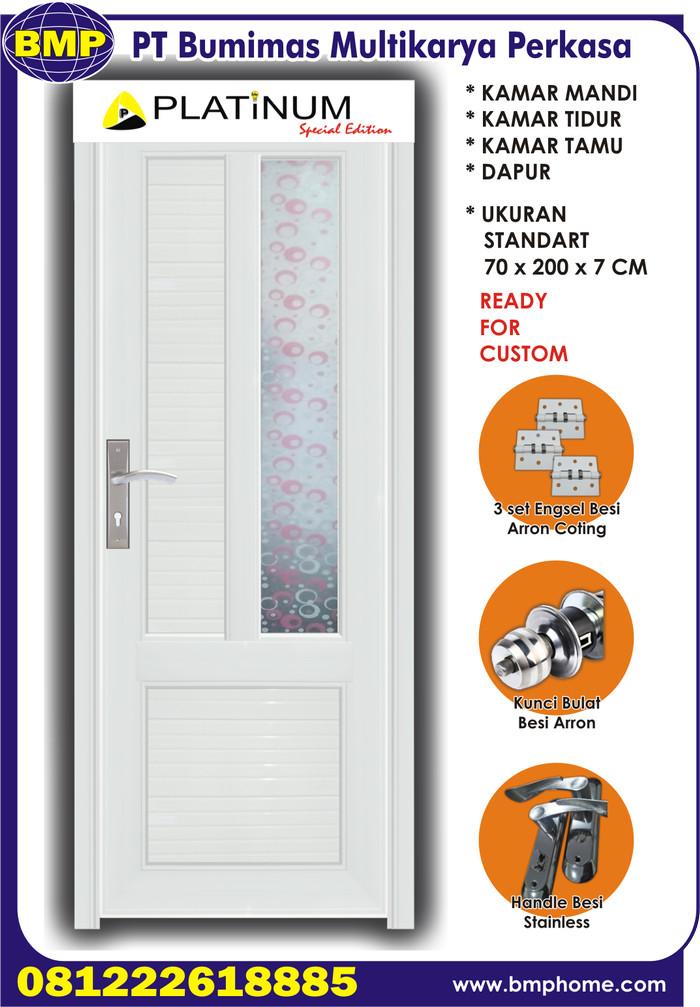 harga Pintu pvc kaca minimalis super tebal 18 kg - putih Tokopedia.com