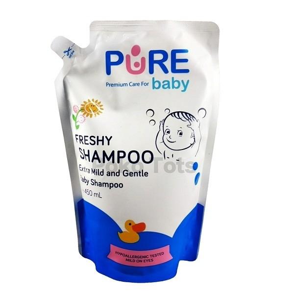 harga Pure baby shampoo freshy refill 450ml shampo bayi Tokopedia.com