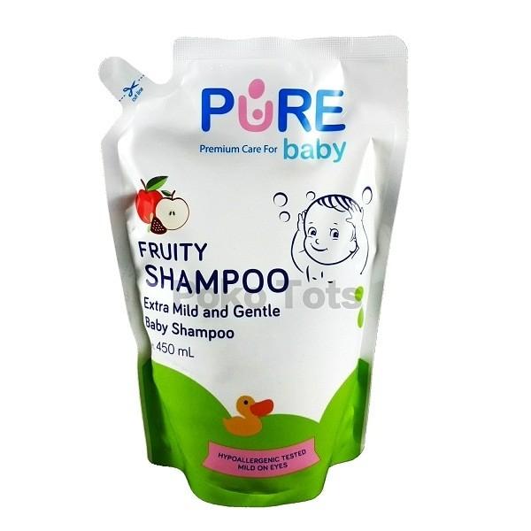 harga Pure baby shampoo fruity refill 450ml shampo bayi Tokopedia.com