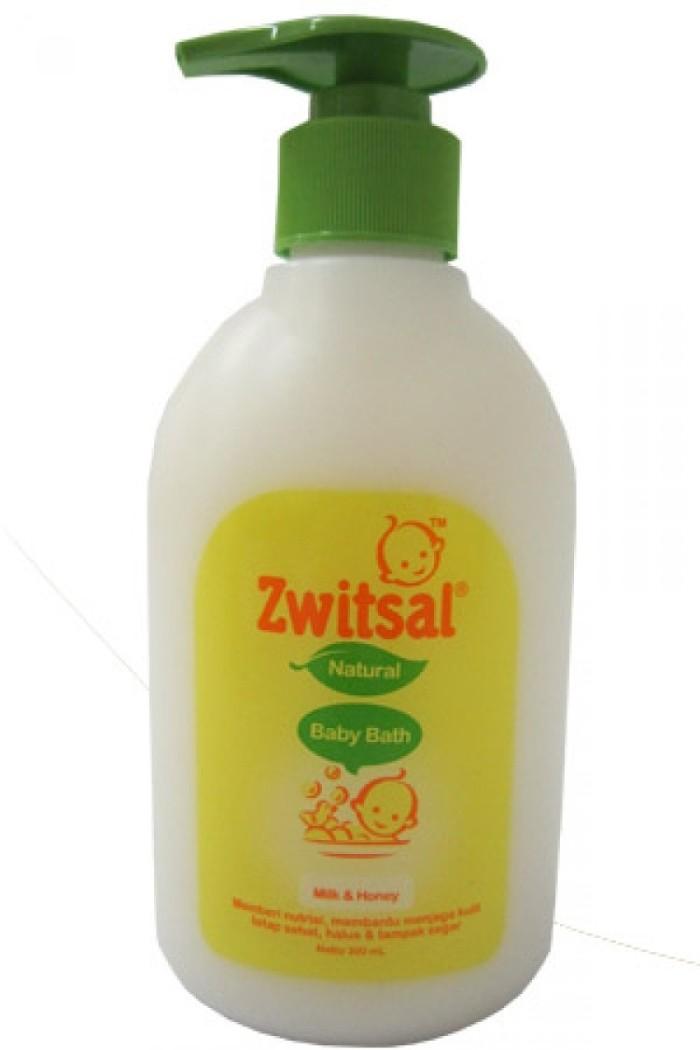 harga Zwitsal natural baby bath milk & honey 300ml pump/rumah susu Tokopedia.com