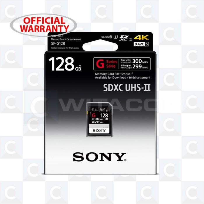 harga Sony sf-g128 sdxc 128gb r300mb/s w299mb/s memory card Tokopedia.com