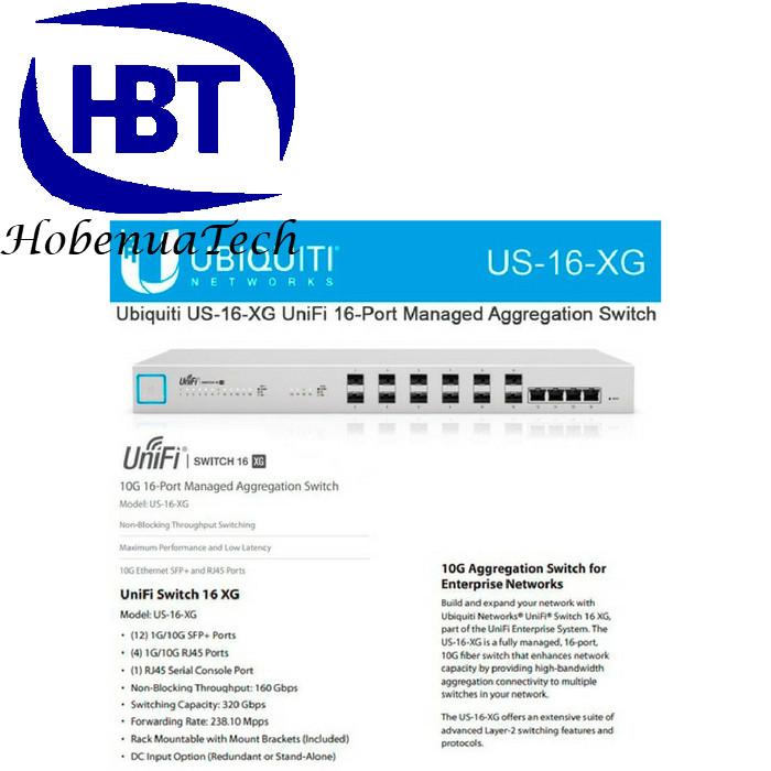 Jual UBIQUITY US-16-XG UniFi Switch 16-Port 10G Managed Aggregation Switch  - Jakarta Pusat - Tipsdietsehatt | Tokopedia