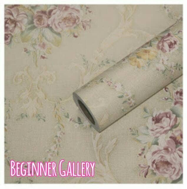 Jual Wallpaper Dinding Bunga Batik Simple Kab Bantul
