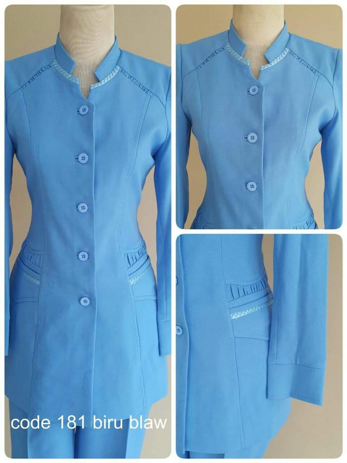 87 Foto Baju Blazer Biru Terbaik