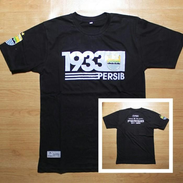 kaos persib 1933 warna hitam original fdh cewek cowok