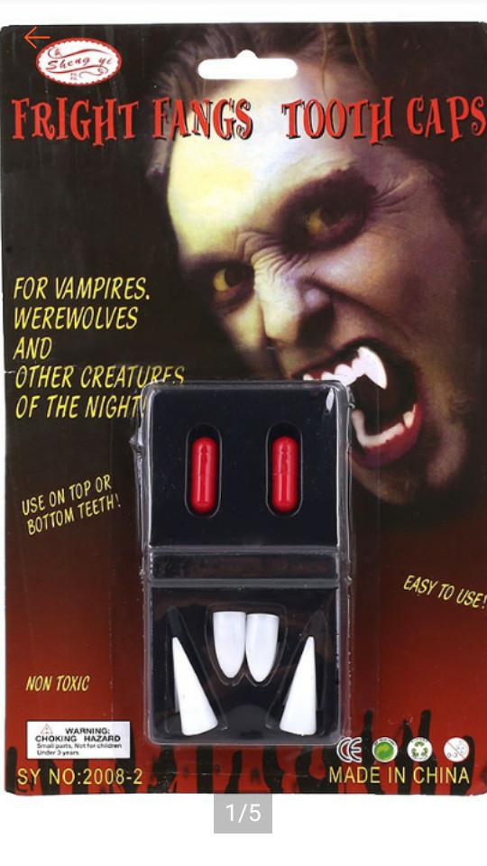 harga Vampire fangs teeth - gigi taring vampire dracula Tokopedia.com