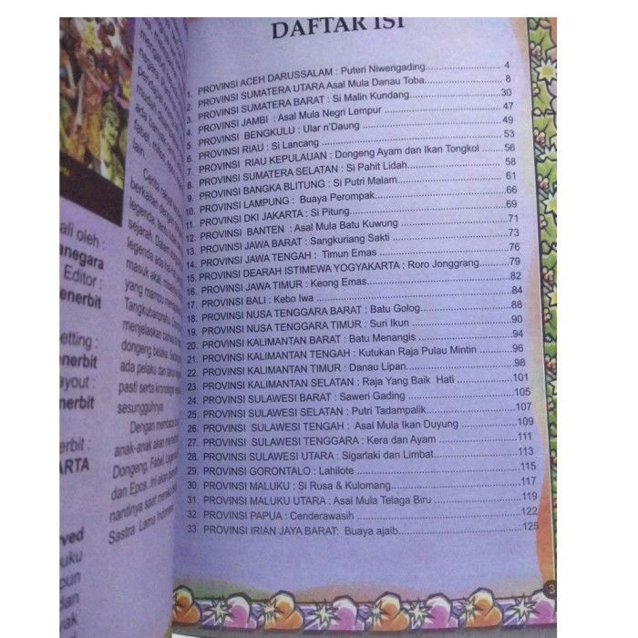 Jual Buku Cerita Kumpulan Cerita Rakyat Nusantara Buku Dongeng