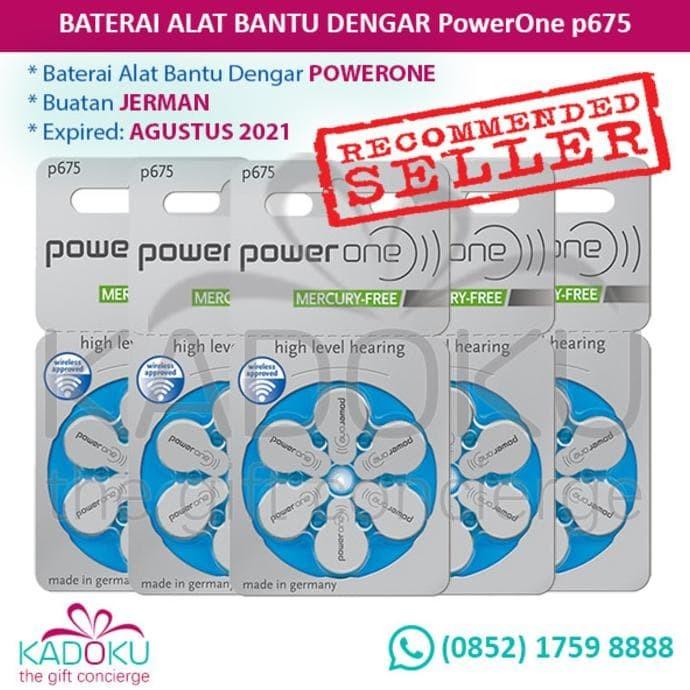 Dijual Baterai Alat Bantu Dengar Powerone 675 (Tipe Terbaru Mercury-