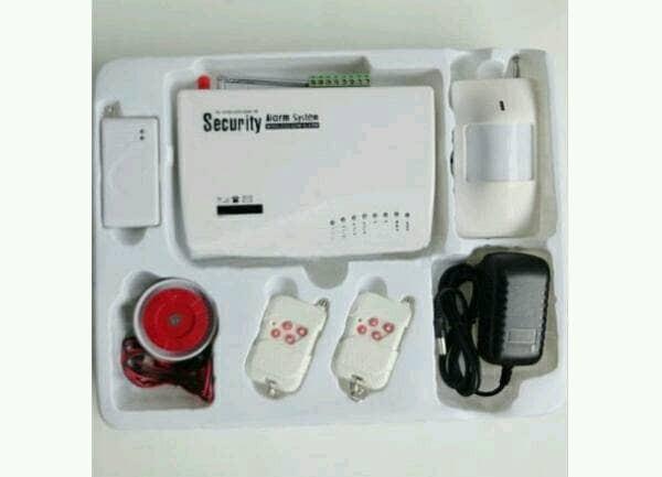 Gsm02 security wireless gsm alarm system set pengaman toko kantor ruko
