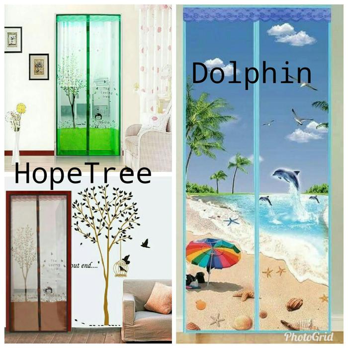 harga Dolphin - tirai pintu magnet anti nyamuk tirai gorden hordeng magnet Tokopedia.com