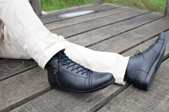 harga Sepatu Kerja Model Boot (bally/brodo/kickers/nike/delta/piero/converse - Hitam, 46 Blanja.com