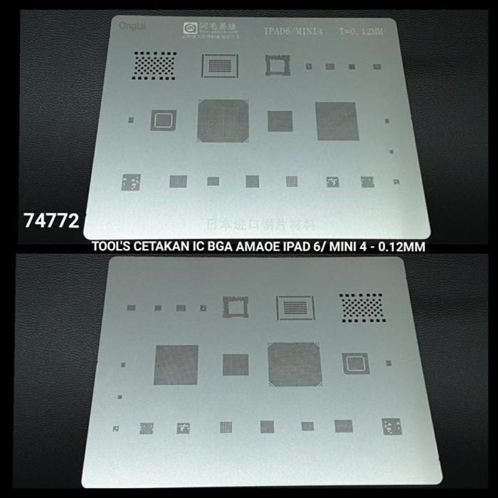 harga Cetakan ic bga amaoe ipad 6 - mini 4 - 0.12mm Tokopedia.com