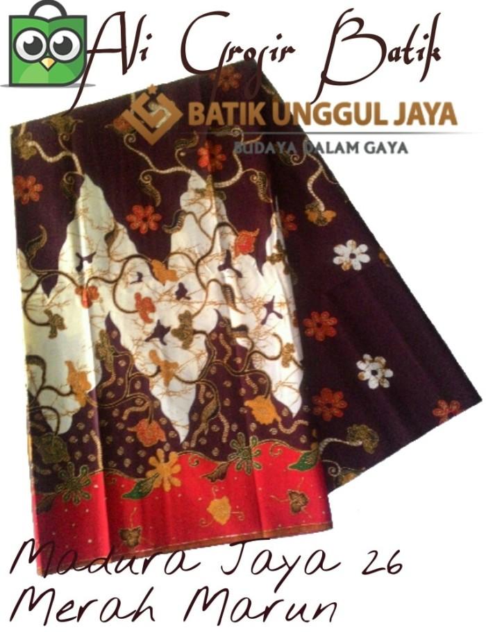 Kain Batik Pekalongan Primisima Madura Jaya 26 Merah Marun Unggul Jaya 9bd2f410e4