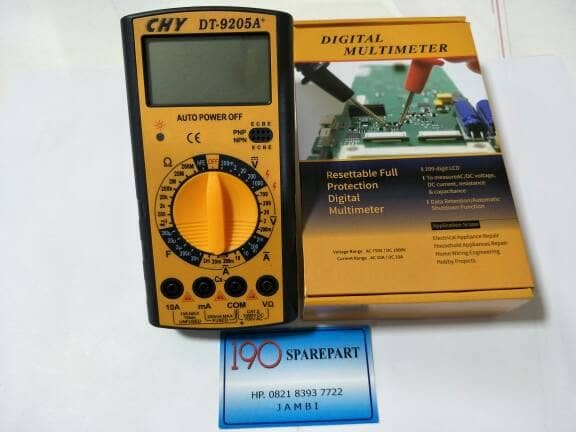 harga Multitester digital multi tester chy 9205a+ plus baterai set Tokopedia.com