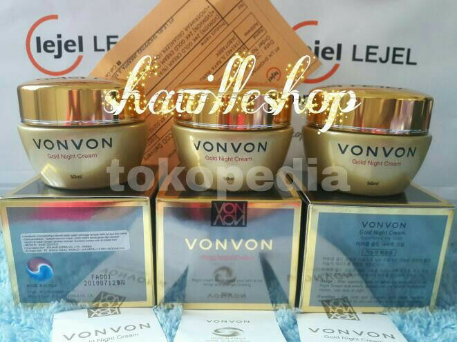 harga Vonvon 24k gold night cream original asli lejel home shopping von von Tokopedia.com