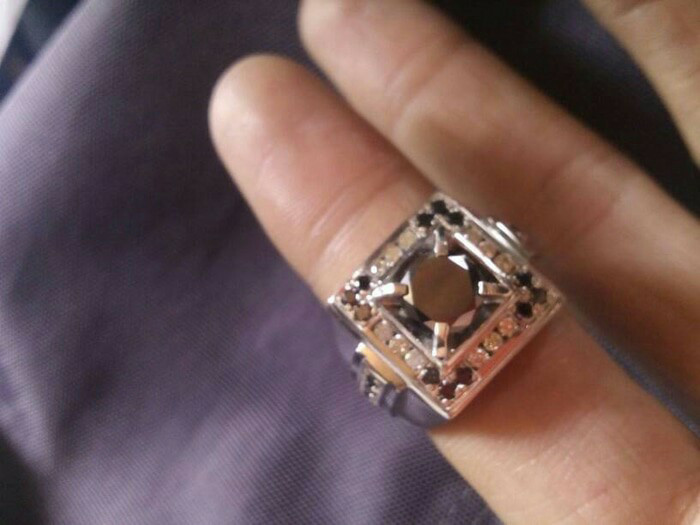 harga Cincin Paladium Berlian Hitam Putih Natural Diamond Palladium Ring Tokopedia.com