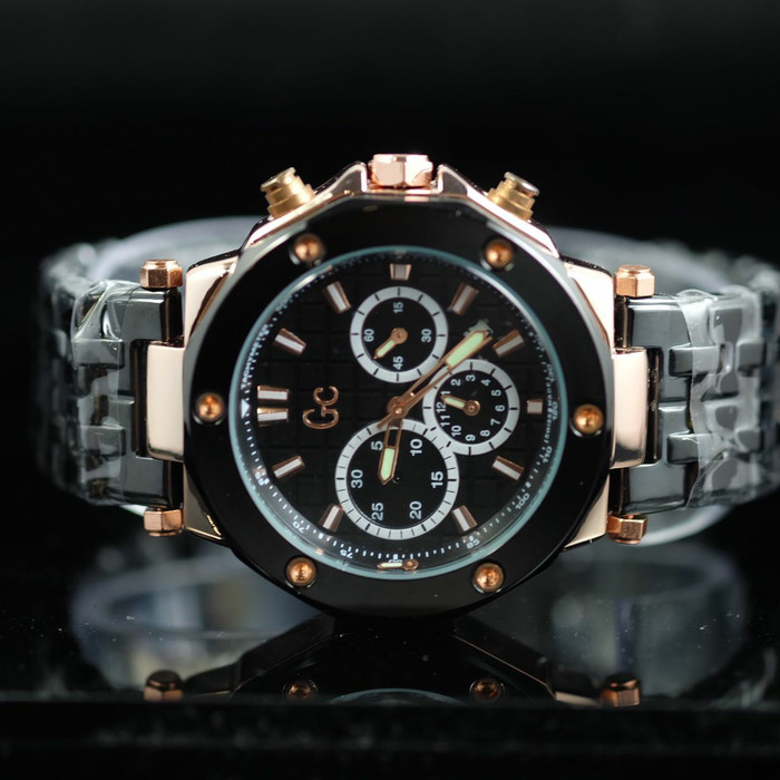 ... GC Class X92004G Chronograph Leather fe2931 Source Jam Tangan Pria Guess Collection GC58 Black Rosegold