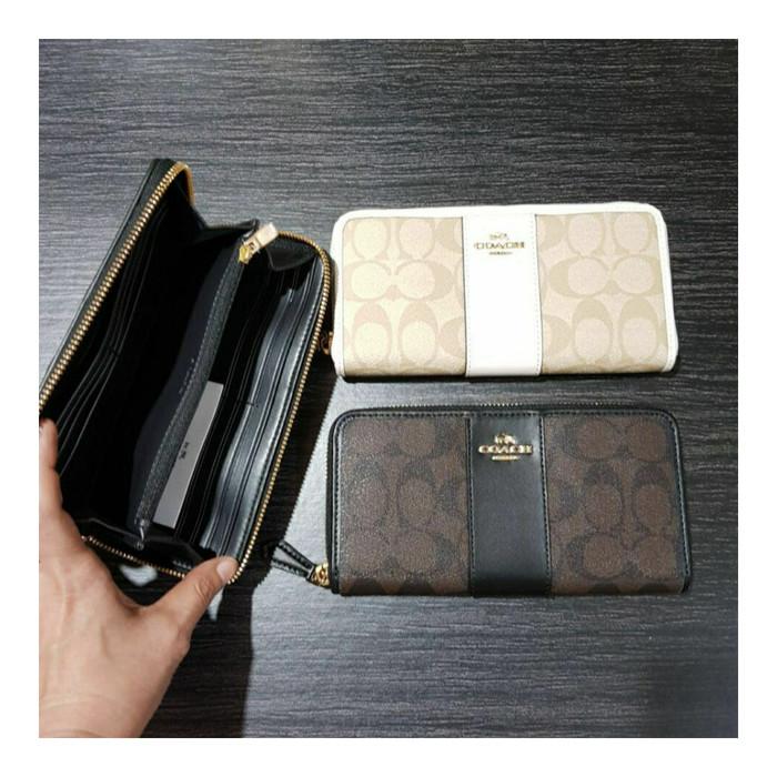 harga Dompet coach original - coach accordion zip wallet Tokopedia.com