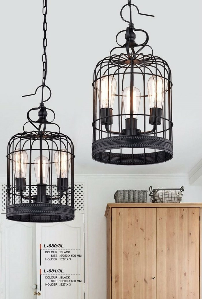 harga Lampu model l-680/3l gantung berbentuk sangkar burung vintage hias de Tokopedia.com