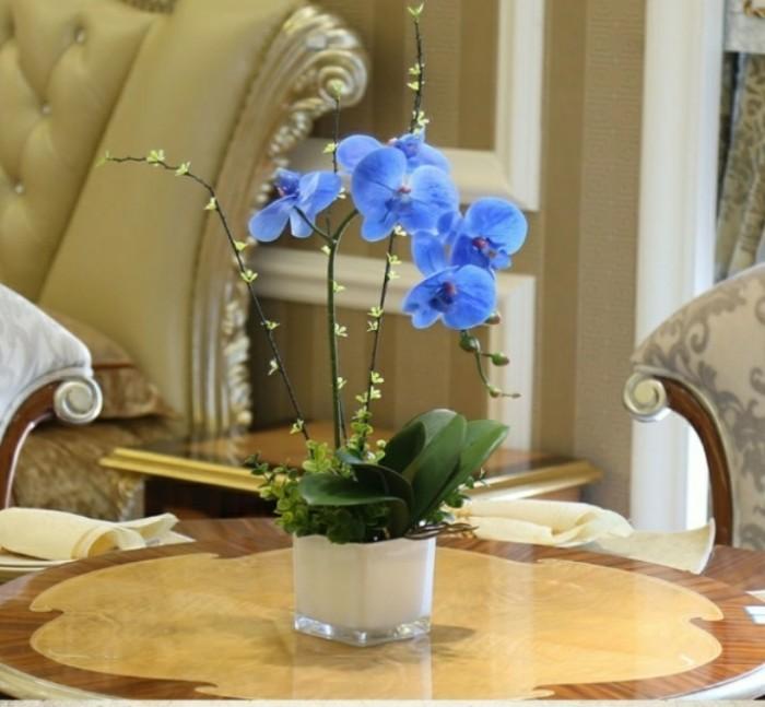 Jual Rangkaian Bunga Anggrek Latex Import-Vas Kaca-Anggrek Biru ... 890dd86ee1