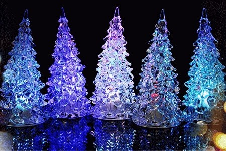 Pohon natal lampu led lamp chrismast tree gift kado souvenir hadiah