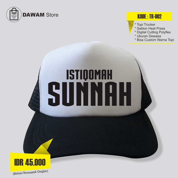 Jual Topi Trucker Islami Istiqomah Sunnah - DawamStore  9703be5ee0