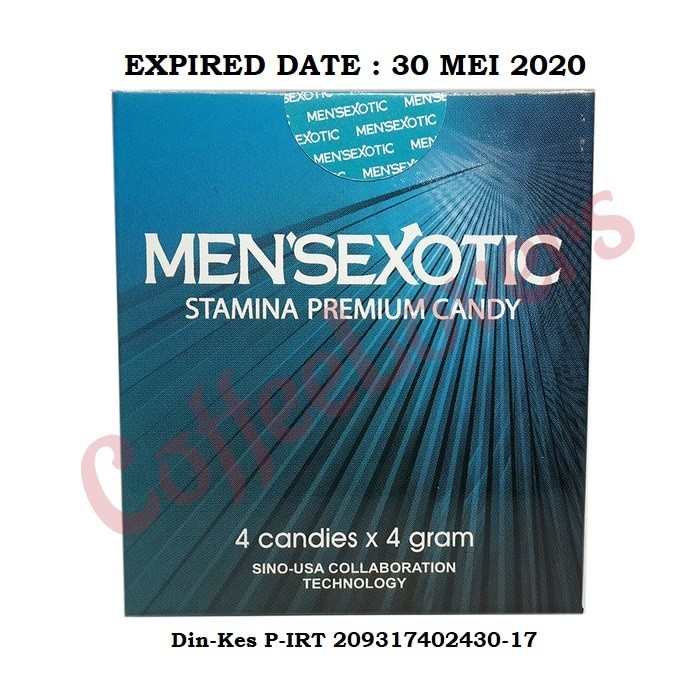 Jual MENSEXOTIC CANDY NEW EXPIRED 05-2020 ISI 4 PCS